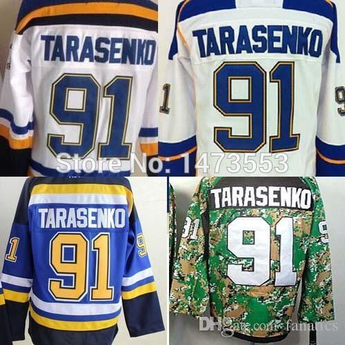 factory authentic 78bdd e35c2 2019 2016 St. Louis Blues #91 Vladimir Tarasenko Jersey Royal Blue/Navy  White Alternate Green Premier Stitched Ice Hockey Jerseys M 3XL From  Cbssport, ...