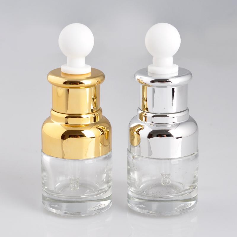 50 pcs 20 ML Mini Portátil de Vidro Recarregável Garrafa De Perfume Para TravelerEmpty Recipiente Cosmético Com Conta-gotas por DHL