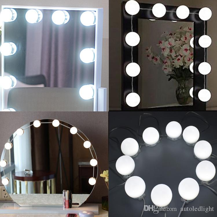 LED Vanity Mirror Lights Kit with Dimmable Light Bulbs, Lighting Fixture Strip for Makeup Vanity Table Set