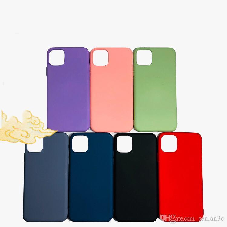 2020 Slim récent souple en silicone liquide téléphone portable cas pour l'iPhone 11 Pro Max XS XS XR Max 7 8 Plus Couverture arrière