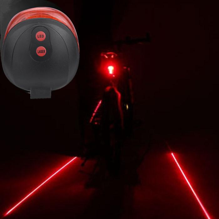2020Cycling Bicycle Bike light 2 Laser Projector Red Lamps Beam and 3 LED Rear Tail Lights Projection Version Bicycle Rear Tail