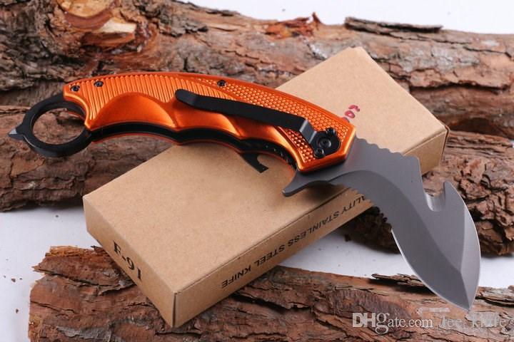 Più nuovo raccomandato Fx F91 coltello claw karambit sopravvivenza esterna campeggio coltello da caccia coltello pieghevole spedizione gratuita 1 pz
