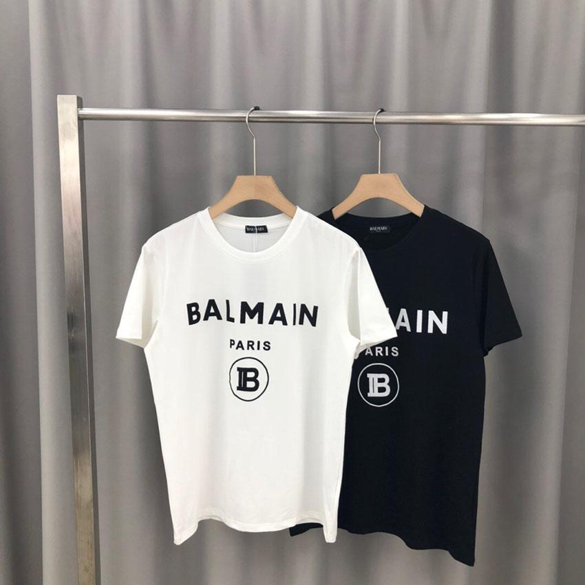 2020 Frühling und Sommer Herren-Mode-T-Shirt Brief Stickerei T-Shirt für Männer und beiläufige kurze Hülsen-T-Shirt schwarz Top-m-2XL Frauen 010