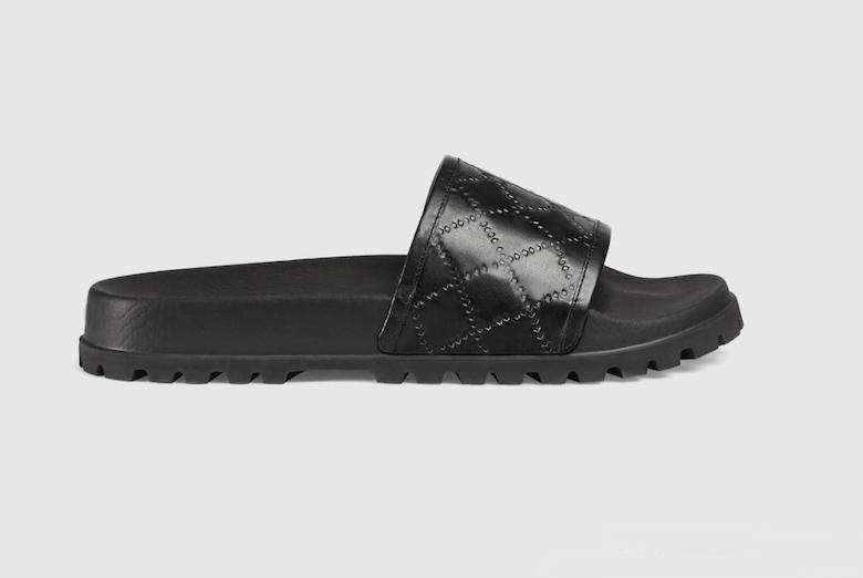 Designer-rect Boîte à fleurs sac à poussière chaussures imprimé serpent Diapo été large Sandales plates Slipper