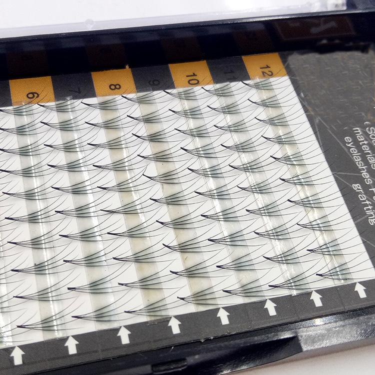 Высокое Качество 4D 0.07 Ресницы 11 мм длина одного лотка 100% Ручная Наращивание Ресниц Привитые ресницы Натуральный локон