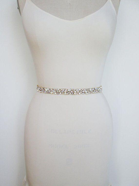 Großhandel Missrdress Opal Hochzeit Gürtel Gold Kristall Brautkleid Gürtel Handgemachte Strass Braut Schärpen Für Hochzeit Zubehör Ys920 Von