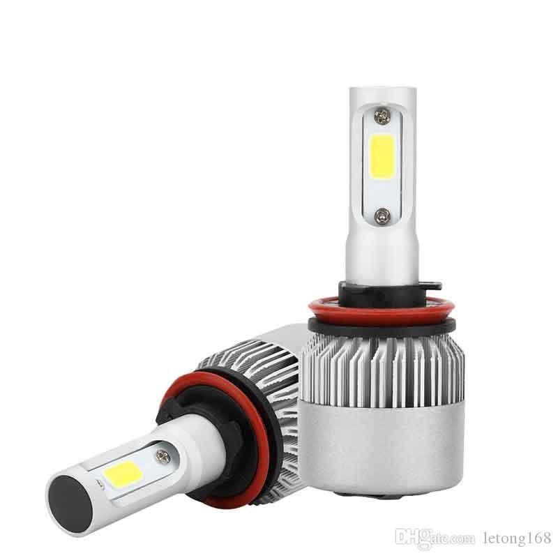 CAR 2PCS H8 / H9 / H11 كوب السوبر مشرق الصمام العلوي تحويل مجموعات لمبات استبدال 60W HID مصباح الضباب الأبيض