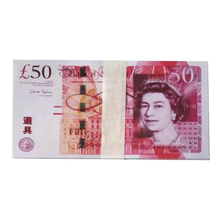 Banque Blandrom britannique Kindom 50 livres Remarque pour la collecte ou les cadeaux d'affaires Faux de monnaie Paper argent Papier GBP Prix Bills Banque Notes 04