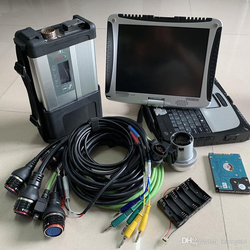 MB SD C5 Star C5 с MB SD connect, компактная версия 5 v2019.05, новейшее программное обеспечение с ноутбуком cf-19, 4 ГБ, готовая к использованию