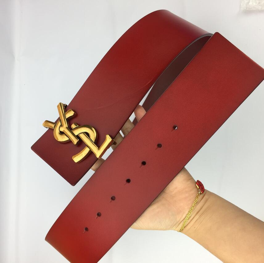 Männer Luxus Designer Herren und Damen-Gürtel mit Mode Big Buckle Echtes Leder h Top-Entwerfer-Qualitäts Luxus Gürtel