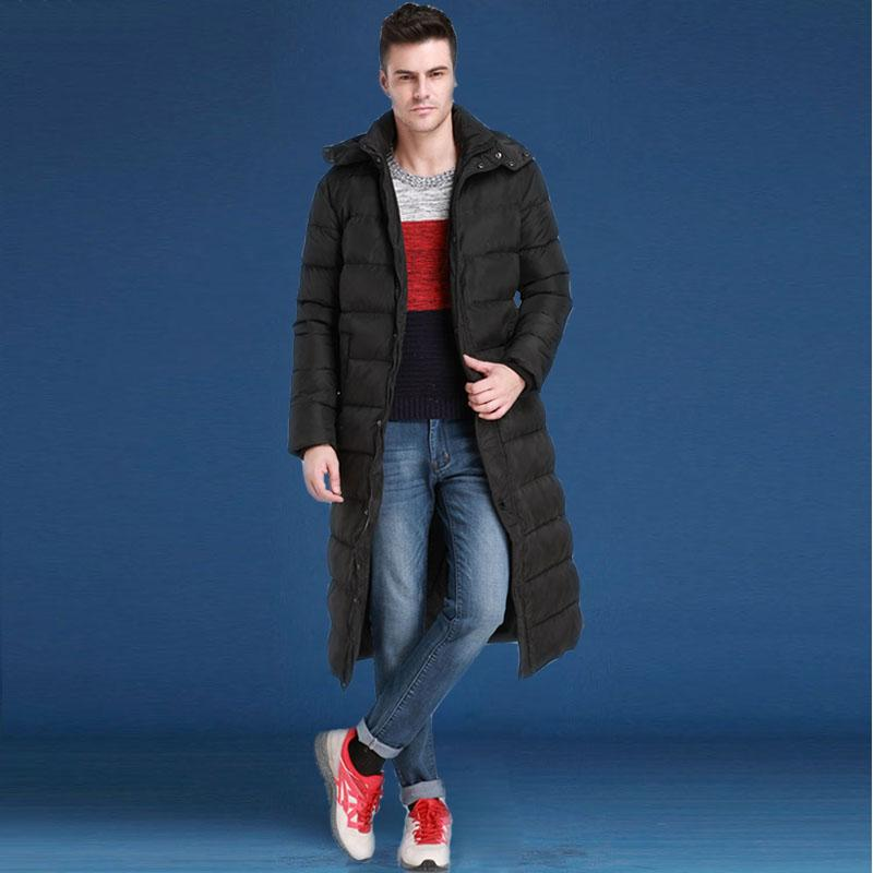 2020 Men Winter Warm White Duck Down Coat X-Long Thickening Jacket Outwear Windproof Hood Pure Natural Fur Collar Parkas