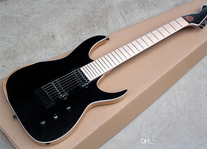 personalizada de fábrica, mate negro guitarra eléctrica con cuerpo de fresno, 24 trastes y diapasón de arce, 2 pastillas abiertas, ofertas personalizadas