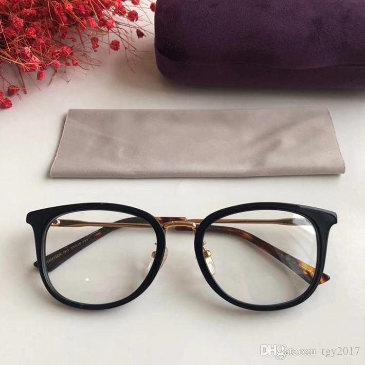 NEW GG0412OK del tablón + vidrios ópticos del metal marco 53-20-145 para gafas miopía de prescripción con el caso freeshipping Set completo