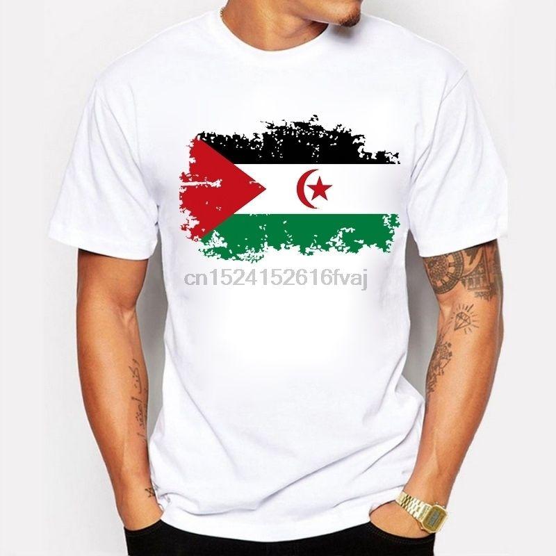 Yeni Batı Sahara Bayrağı Tişörtlü Erkekler Rasgele Kısa Kollu T-shirt Komik Batı Sahara Milli Bayrak Yaz Erkekler Tişörtü