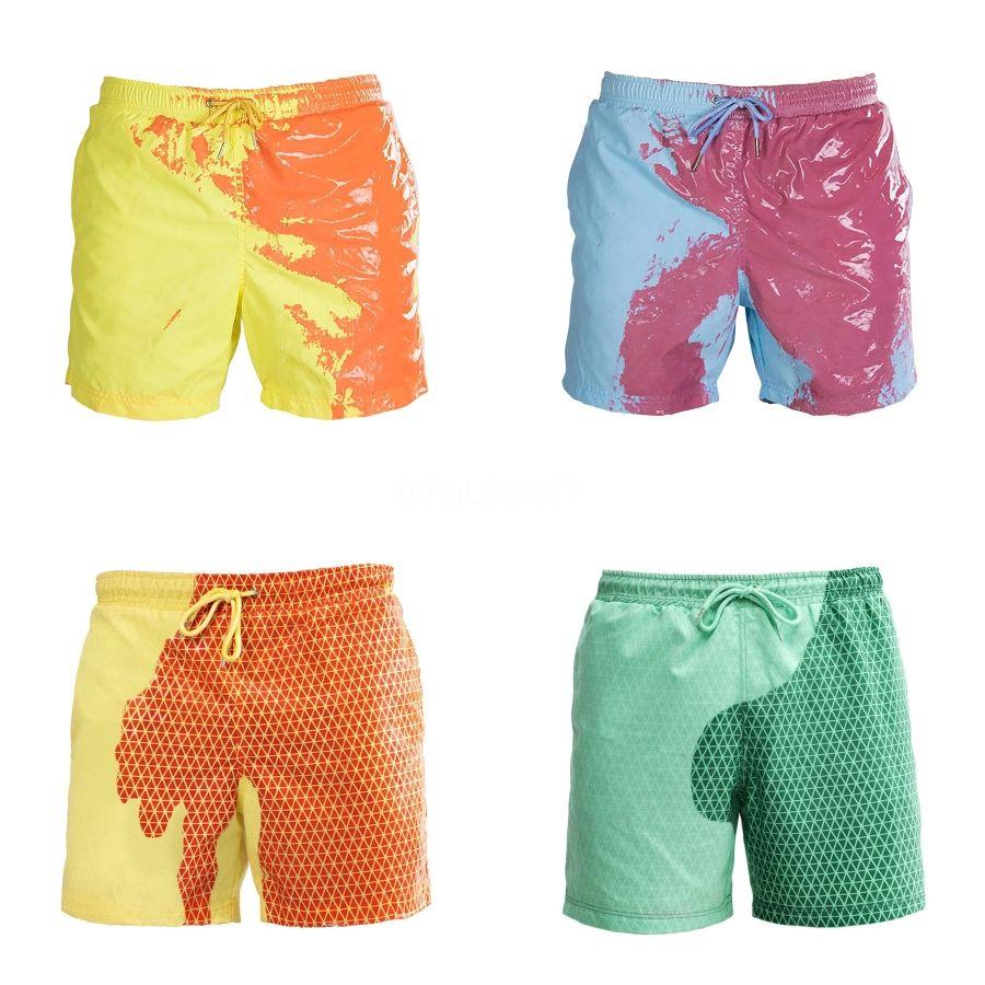 Traje de baño caliente de los hombres de natación escritos atractivos de los troncos traje de baño de la playa de los cortocircuitos de baño Calzoncillos Traje de desgaste para Perfume Man # 672