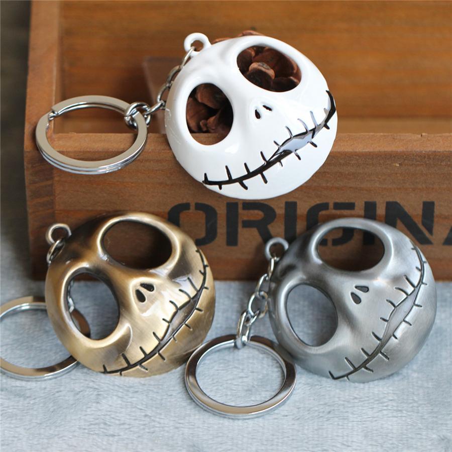 만화 해골 키 체인 링 패션 할로윈 악마 해골 호박 키 체인 열쇠 고리 크리스마스 액세서리 선물 RRA2233