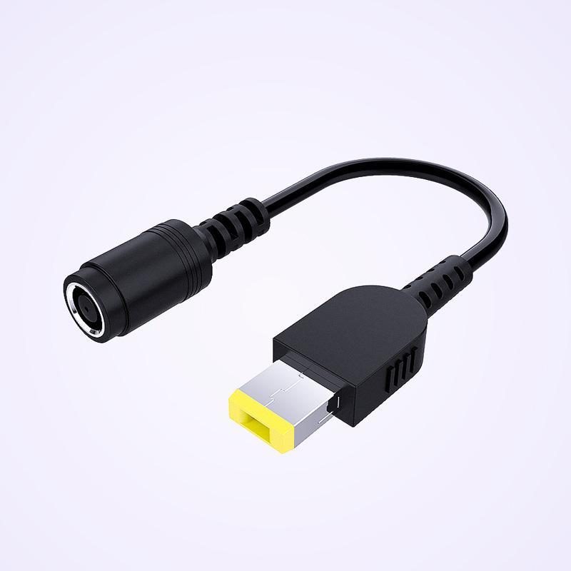 Adaptador de cables con convertidor de potencia de cargador 7,9 mm Jack redondo a 5,5 mm Fuente de alimentación cuadrada para Lenovo ThinkPad X1Carbon