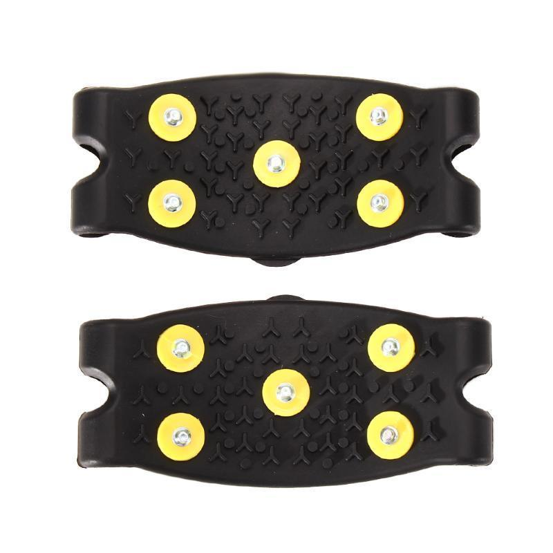 New Anti Slip Snow Ice Climbing Spikes Grips Crampon Cleats 5-stud Shoes Cover Free Shipping