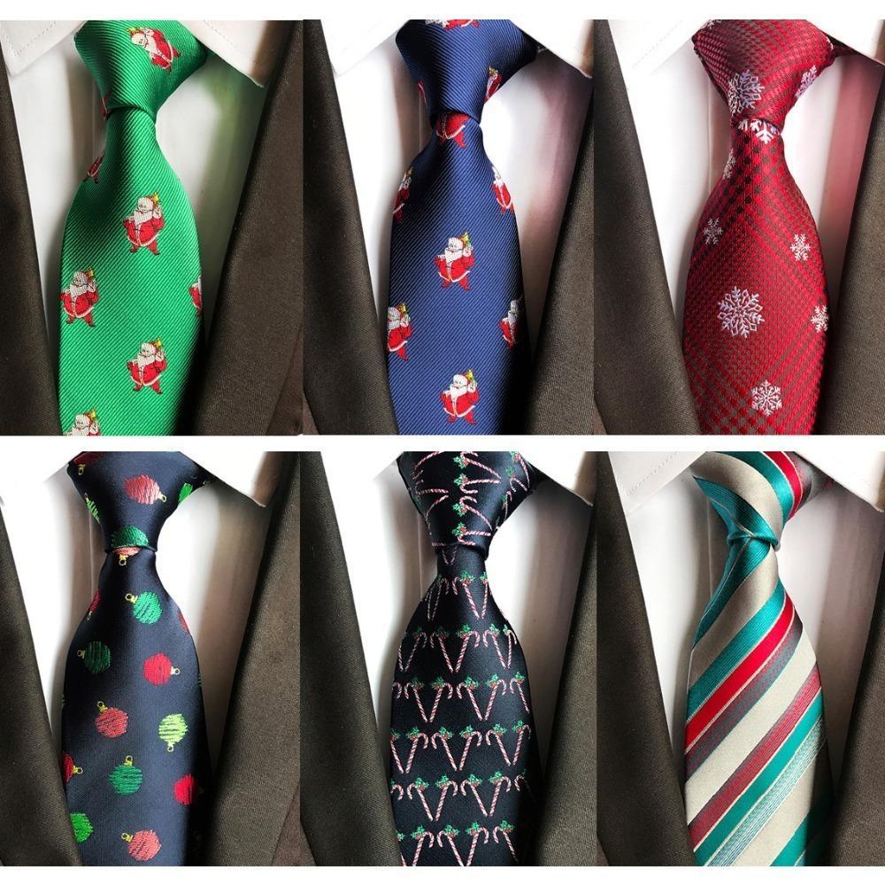 8cm 남성 크리스마스 타이 트리 동물 넥타이 자카드 직물 Corbatas Vestidos 눈사람 패턴 넥타이 목 넥타이