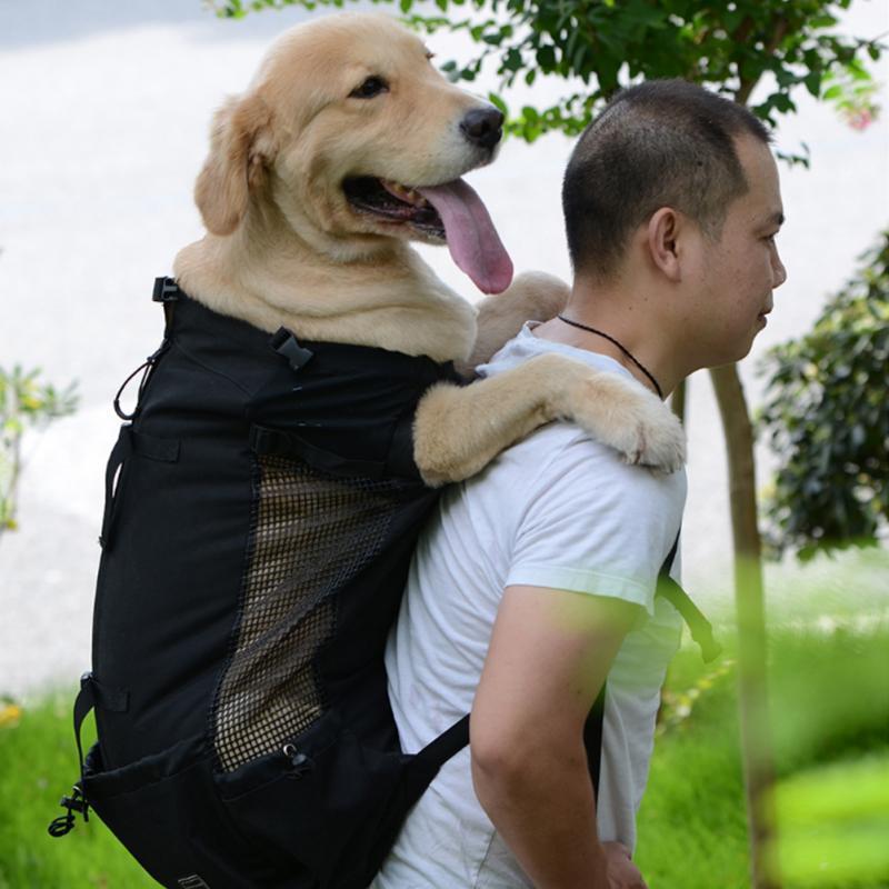 Spalla Carrier Dog Bag Pet viaggiatore zaino cane Affioramento Borse Ventilazione traspirante lavabile giardino Bicicletta Trekking Zaino