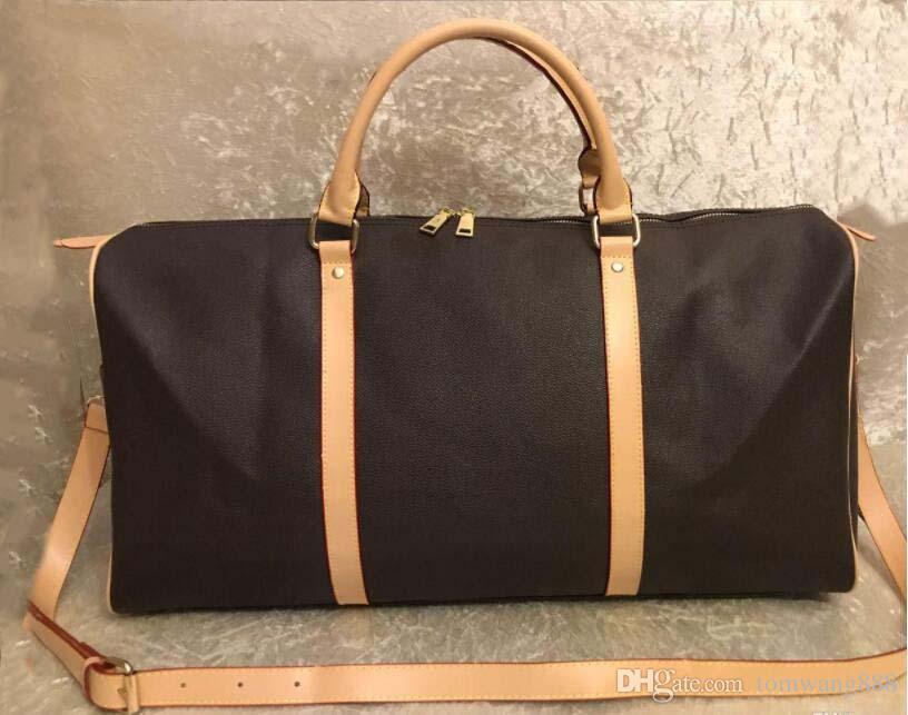 2019 Lüks erkekler kadınlar çanta Deri spor çantası markası tasarımcı bagaj çanta büyük kapasiteli omuz spor çantası Seyahat Çantaları seyahati