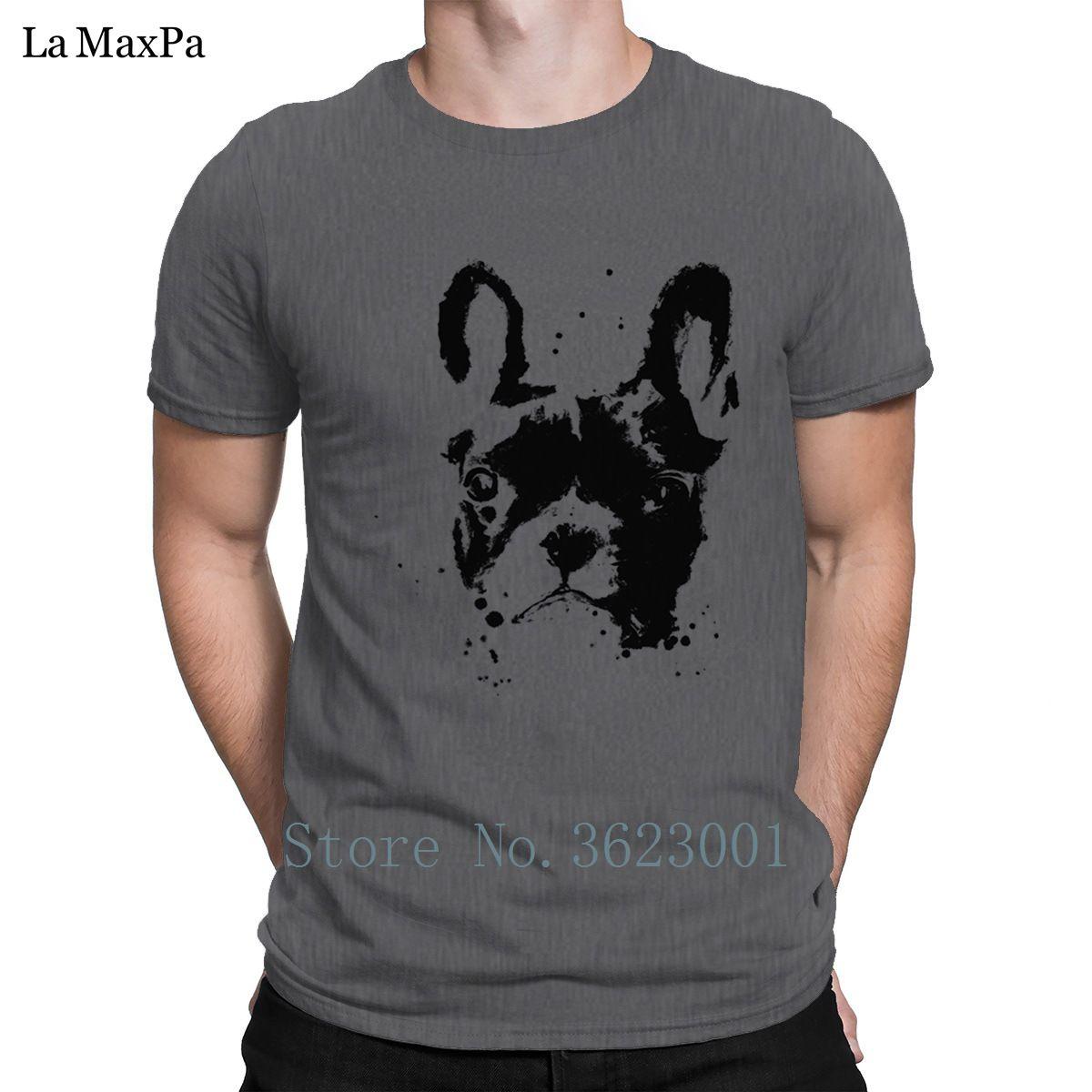 Diseños estándar T camisa de manga corta transpirable inteligente del hombre Bulldog caballero camiseta de los hombres de regalos