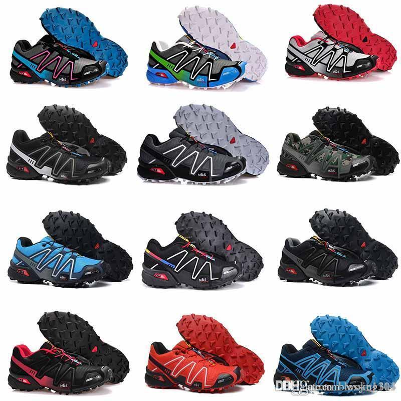 2018 Летний Новый Speedcross 4 4s Red Trail Runner Мужская и женская спортивная обувь Мода Горячие кроссовки продажа на открытом воздухе кроссовки