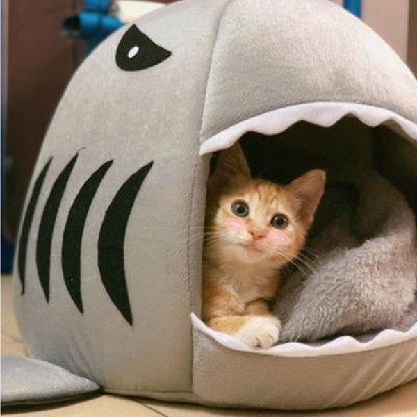 개 하우스 상어 대형 개 텐트 높은 품질면 작은 개 고양이 강아지 집 애완 동물 제품 침대