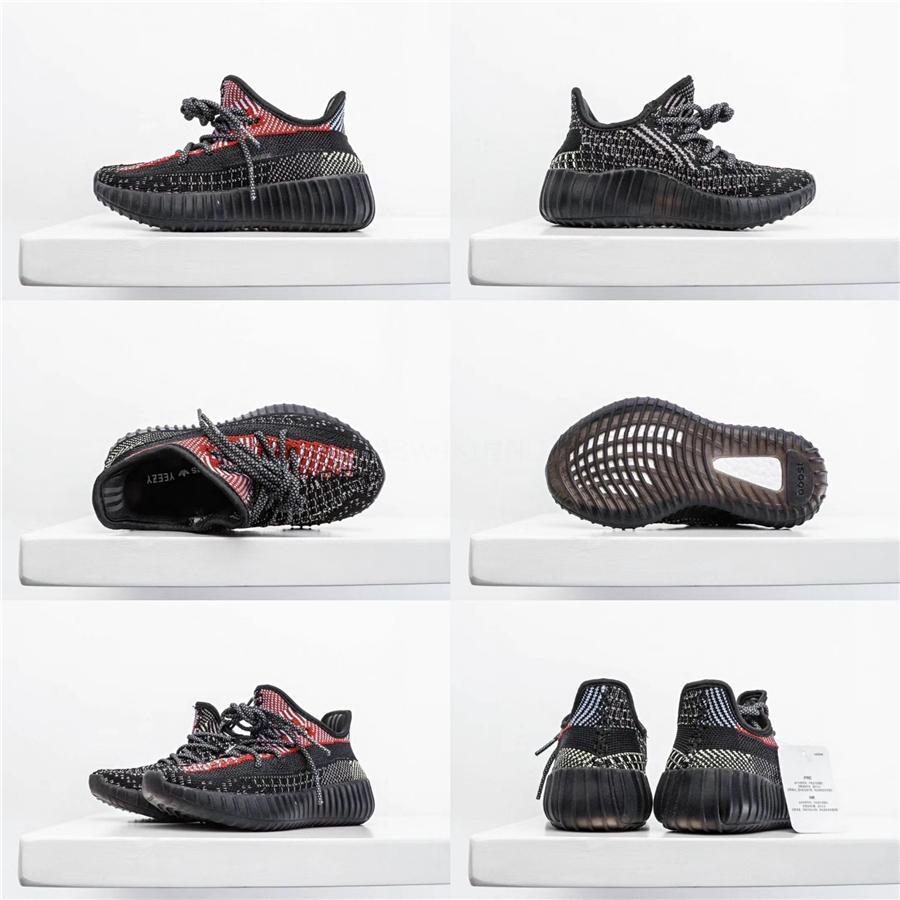 El bebé en línea Kids Run Zapatos Kanye West Sply los zapatos corrientes de los zapatos atléticos V2 Niños Niño Niña Beluga 2.0 zapatillas Negro Rojo # 911