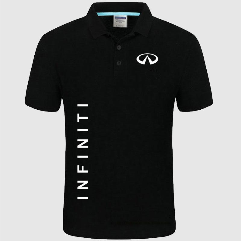 Совершенно новый мужской Infiniti логотип Поло рубашка унисекс Поло рубашка мужчины хлопок рубашка с коротким рукавом одежда размеры-XXXL