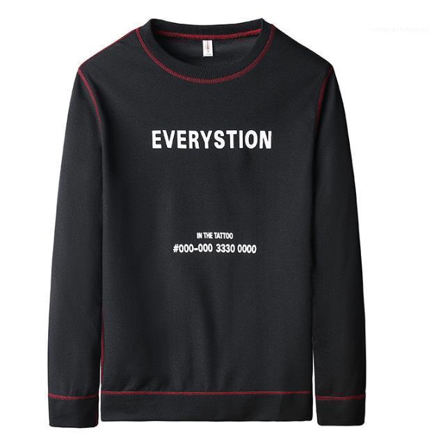 Drucken Homme Sweatshirts Langarm-Fest Farbe Pullover Männlich Kleidung Herren Designer Hoodies Lose Brief Nummer