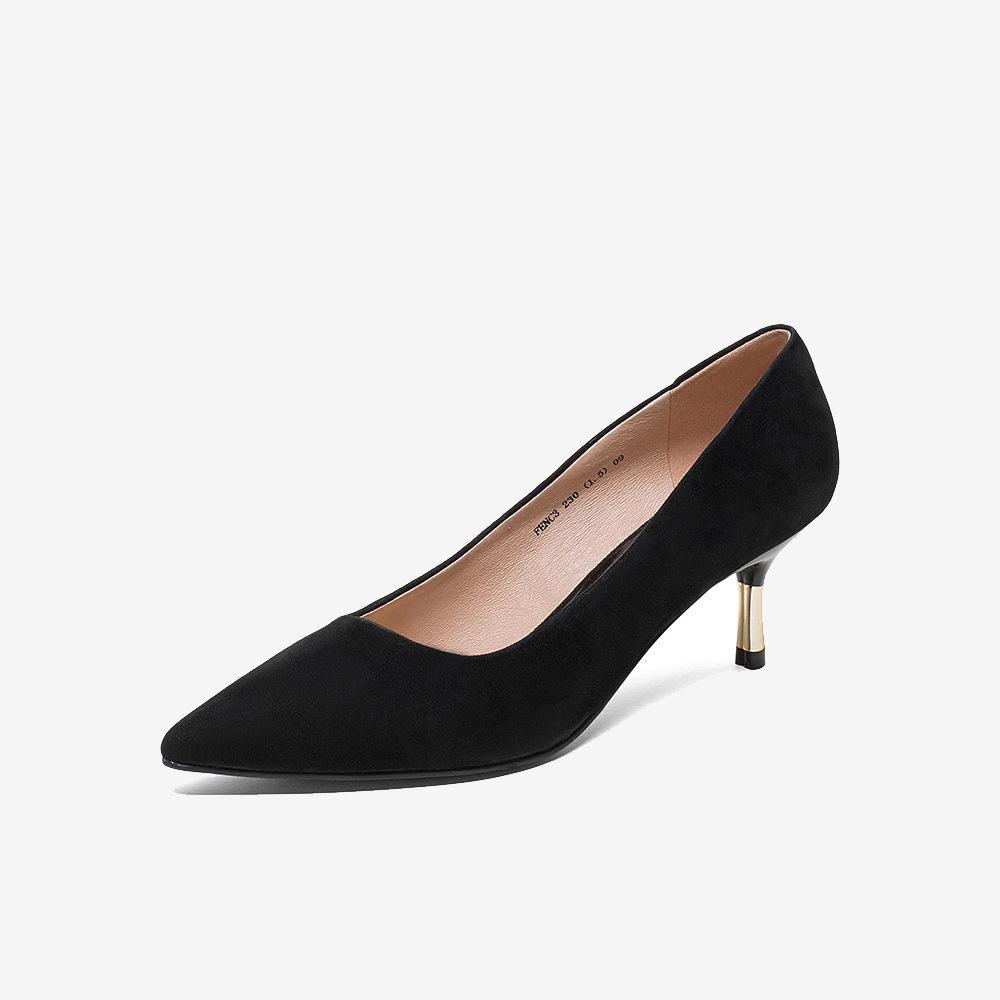 2020 nouvelle arrivée chaussures pompe femmes à talons hauts-suède kid de luxe ont souligné chaussures sexy partie chaussures habillées design de haute qualité WPS 144