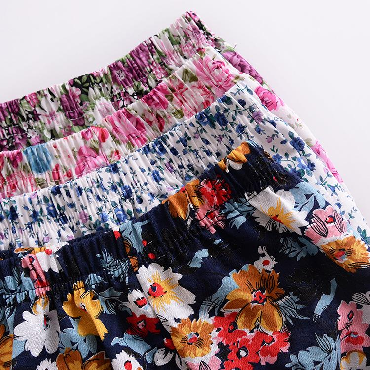 Summer Infant Weibliches Baby Blumen Shorts Kinder Brot Pp Hosen-Baby-Rüsche-Shorts Mädchen Shorts Leggings Hosen Hosen