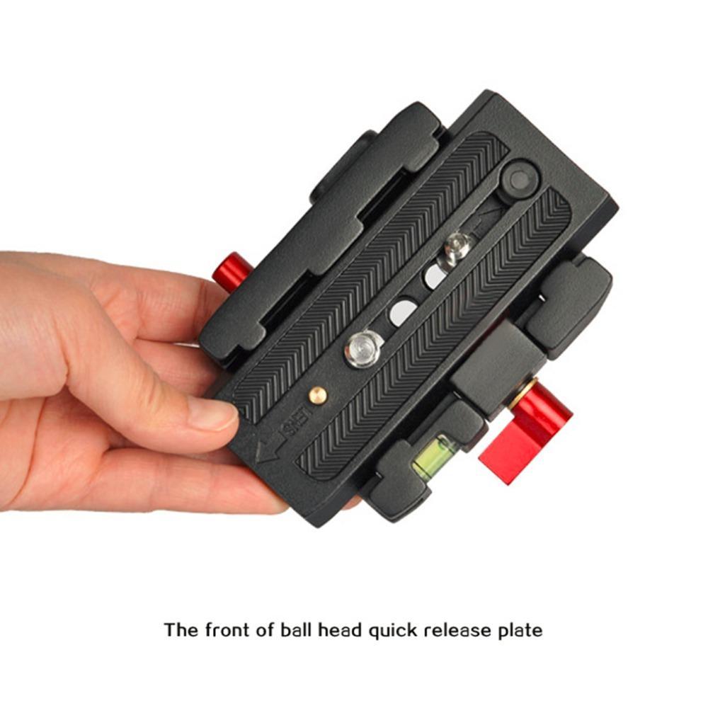 Placa de liberación rápida antirresbaladiza durable de la placa de la aleación de aluminio del negro de Freeshipping para la cabeza DSLR o la cámara de vídeo del trípode