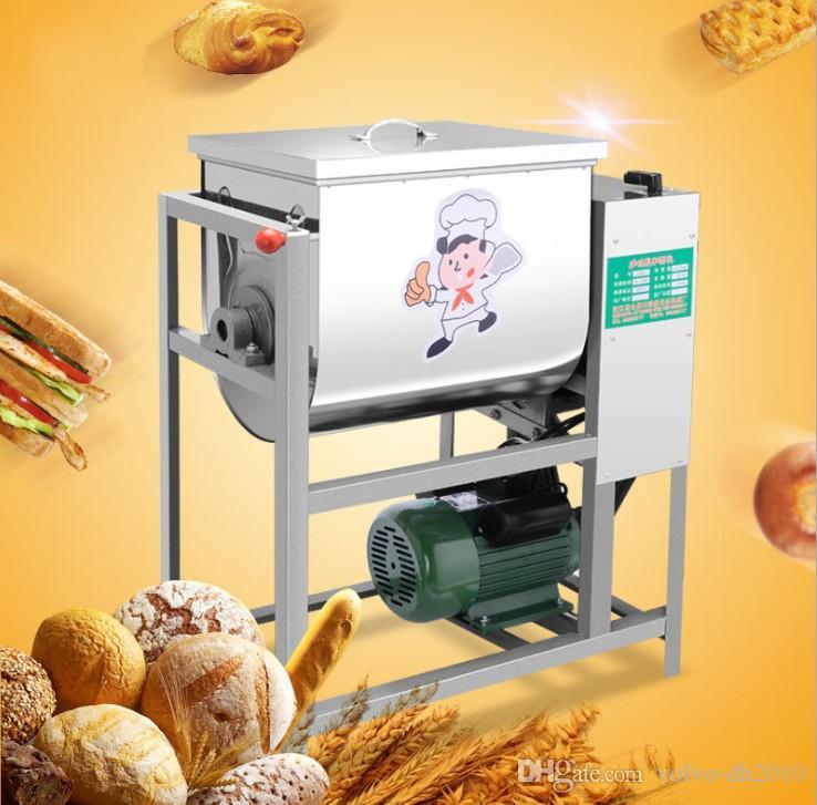 Автоматическая машина стойки емкости смесителя теста 25кг смешивая с крюком теста, загонщиком, смесителем ЛЛФА кухни шара нержавеющей стали смешивая