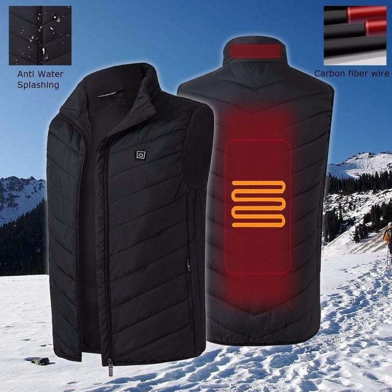 New Winter Usb Heater vest electric Heated Jacket Heating Winter Clothes Warm Outdoor Sleeveless Vest Climbing Fishing Hunting