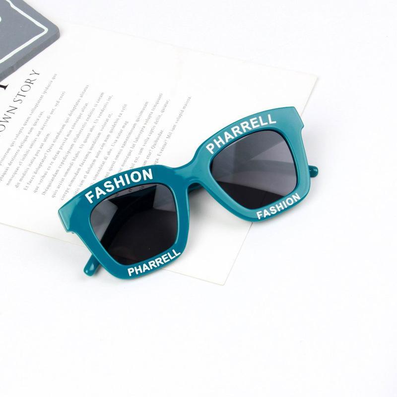 2020 الاطفال إلكتروني النظارات الشمسية الرجعية الاطفال مربع مرآة الشمس الزجاج صبي فتاة ساحة نظارات نظارات سفر الطفل 6 ألوان UV400 اختياري