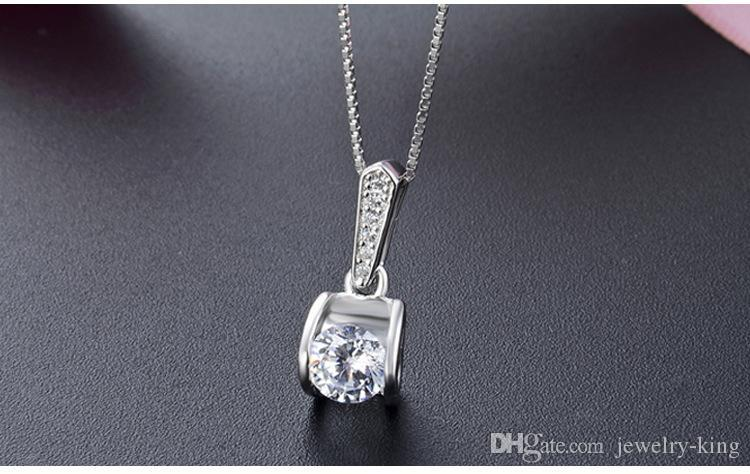 Mixed order top quality women's S925 sterling silver CZ pendants for necklace silver CZ necklace CZ silver pendant costume jewelry DDS1