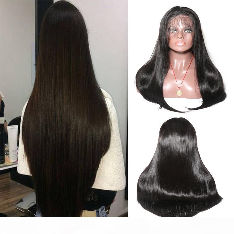 شعر الإنسان الباروكات الجبهة الرباط البرازيلي الماليزي الهندي مستقيم الشعر 13 بواسطة 6 بوصات الرباط الباروكة ريمي الإنسان الشعر المستعار للمرأة