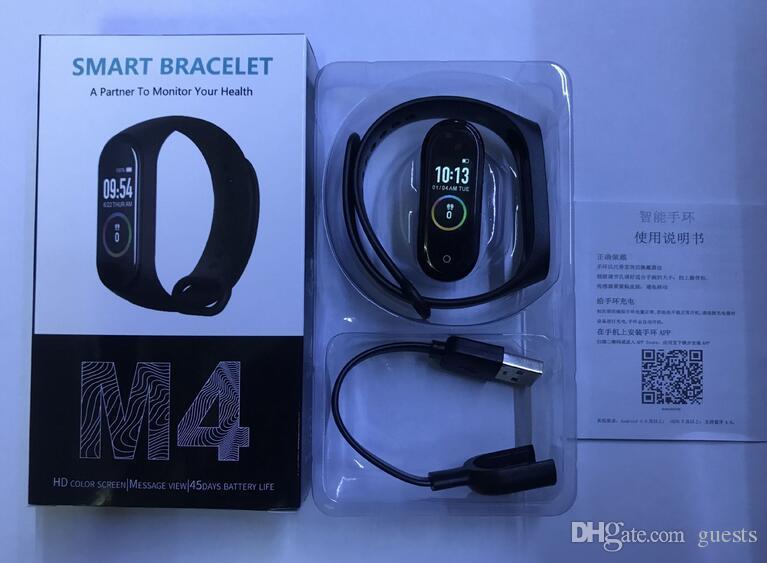 سوار M4 الذكية فرقة للياقة البدنية المقتفي ووتش الرياضة معدل ضربات القلب ووتش الذكية 0.96 بوصة Smartband مراقب الصحة الاسورة PK ميل الفرقة 4