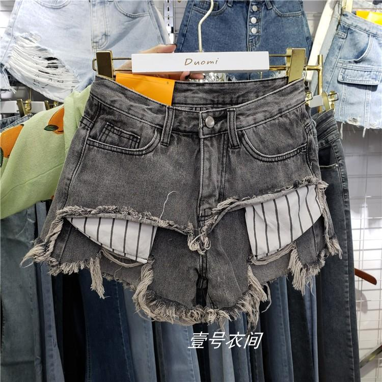 High-waisted Denim Shorts Girls Summer Wear Jeans Women Loose Wide-Leg Pants A- Line Shorts Fashion Boot Pants Lady Hot