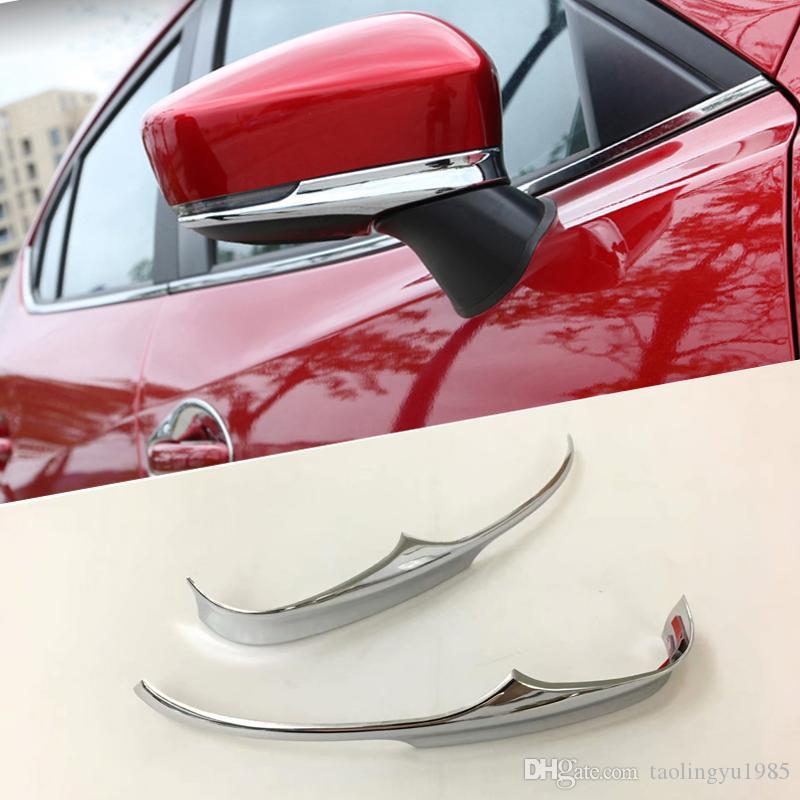 Rétroviseurs latéraux de porte latérale de chrome d'équilibre ajustement pour Mazda 3 Axela 2017-2018