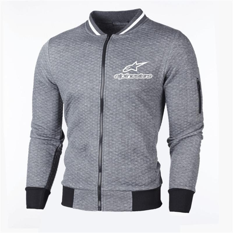 Erkek Alp Yıldız Rüzgarlık Ceket Kalın Giyim Fermuar Palto Erkekler Beyzbol ceketler Slim Fit Casual Erkek ceketler ve Coats