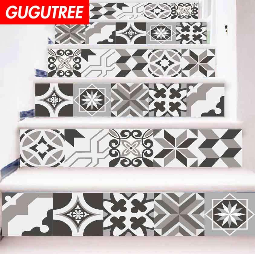 Decorate Home 3D return to the ancients cartoon art wall Stair sticker decoration Decals mural painting Removable Decor Wallpaper G-708