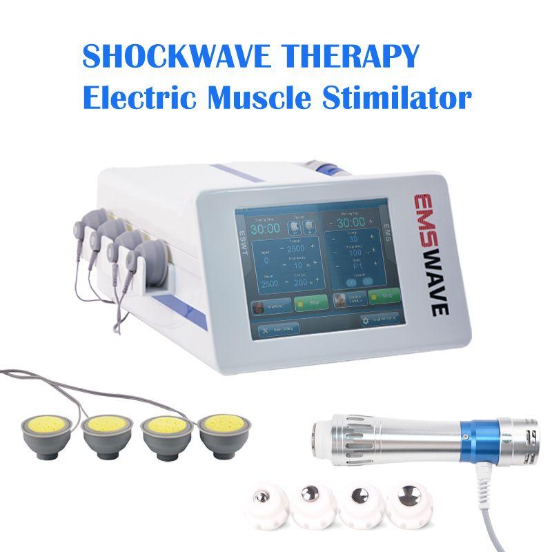 EMS آلة العلاج الطبيعي العضلات التحفيز ESWT شعاعي آلة صدمة العلاج موجة لreilf آلام الجسم / ED البدني العلاج وحدثت الهزة الارضية