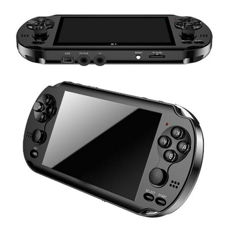 8 Go X9 jeu portable lecteur 5 pouces grand écran portable Console de jeux Lecteur MP4 avec TV Sortie caméra vidéo TF