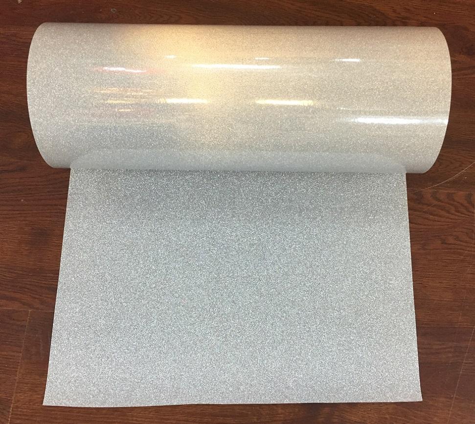 45cm * 45m réfléchissant clignotant minuscule étoiles film décoratif en PVC matériau feuille réfléchissante