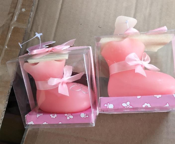 100pcs Babypartybevorzugung Kerze Geschenk - Baby-Schuh Kerze Handwerk Kerze Baby zugunsten Geburtstagsparty Dekoration Partei Geschenk