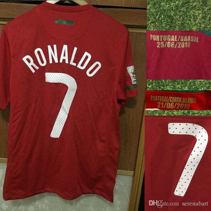 pretty nice fa272 108f7 2019 Retro Jersey 2010 Portugal Ronaldo Jersey NANI PEPE Deco Jersey With  Game Match Details Soccer SHirt From Serenabart, $21.93 | DHgate.Com