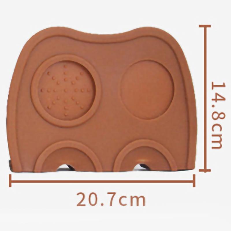 Coffee Tamper Mat Holder Espresso Maker Support Base Non-Slip Flexible Corner Pad Barista Coffee Tea Bar Tool